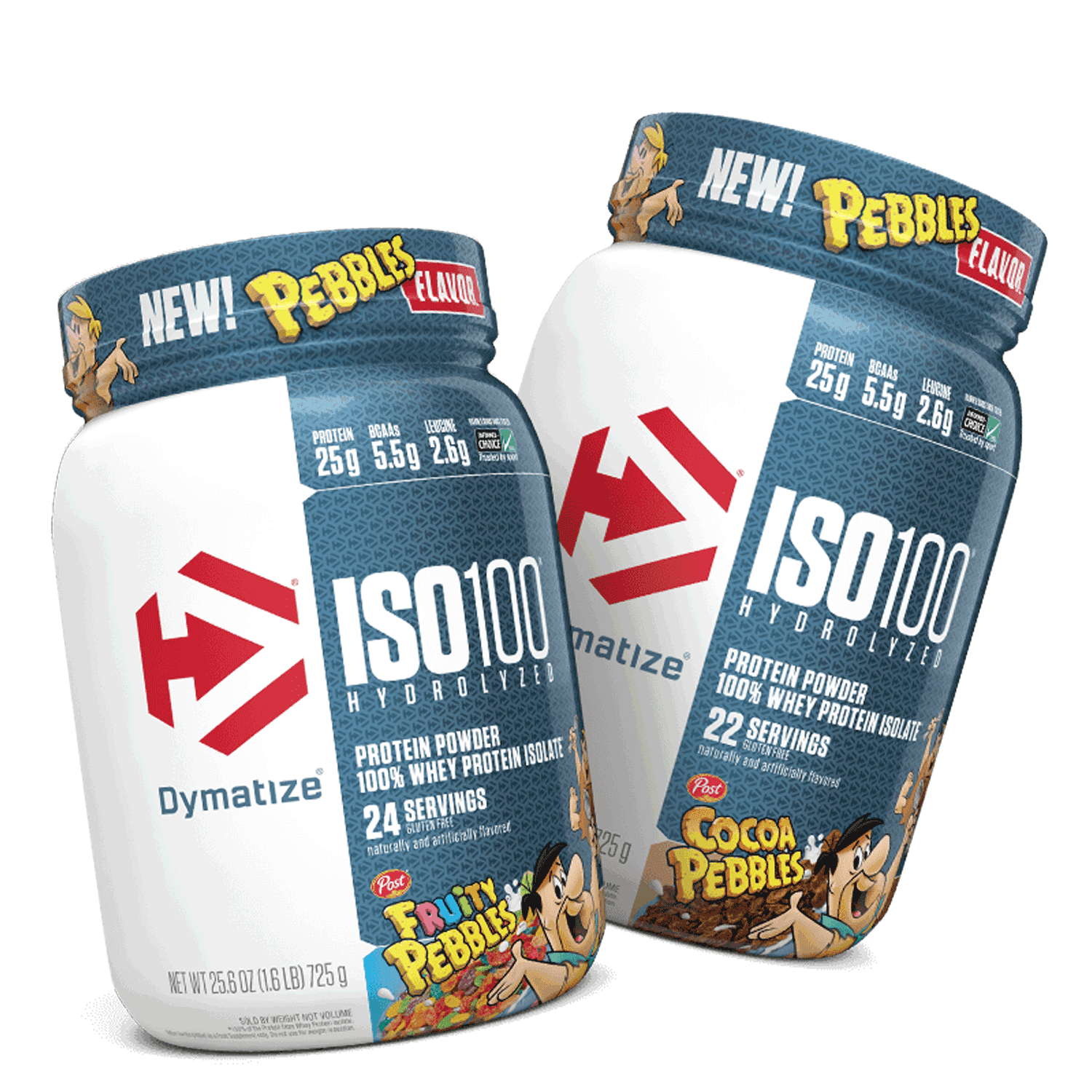 Dymatize® ISO100® Fruity PEBBLES™ Product Packaging