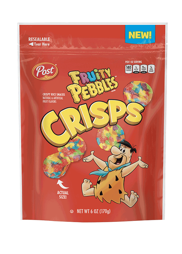 Cocoa Pebbles Crisps Product Packaging
